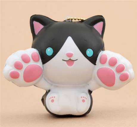Squishy Squooshems Cat : Faulty - black and white cat animal two paws up squishy kawaii - Cute Squishy Shop