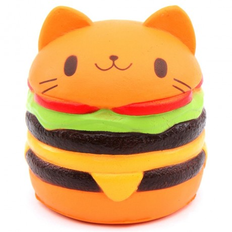 Squishy Hamburger Cat : cute jumbo cat hamburger scented squishy kawaii - Cute Squishy Shop