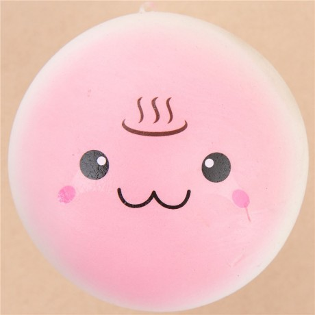 cute pink steam bun food squishy kawaii - Cute Squishy Shop